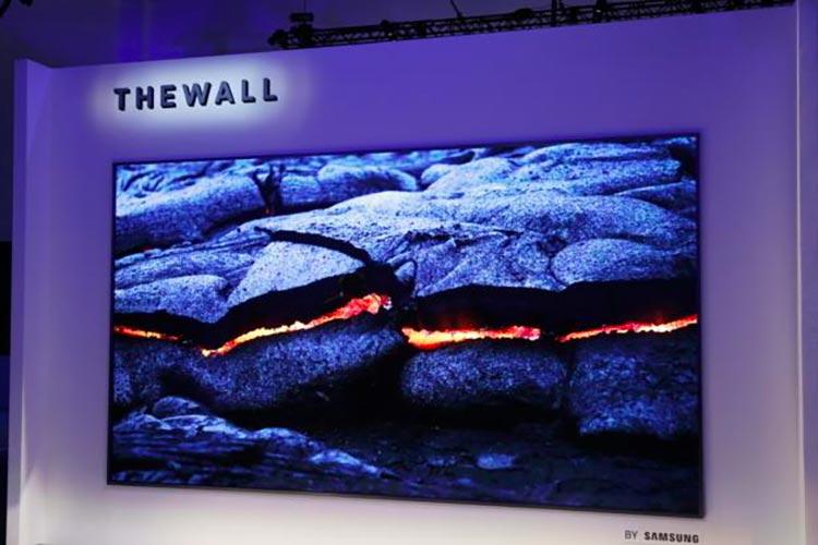 CES18 : The Wall, le premier téléviseur MicroLED 4K sans rebord de Samsung