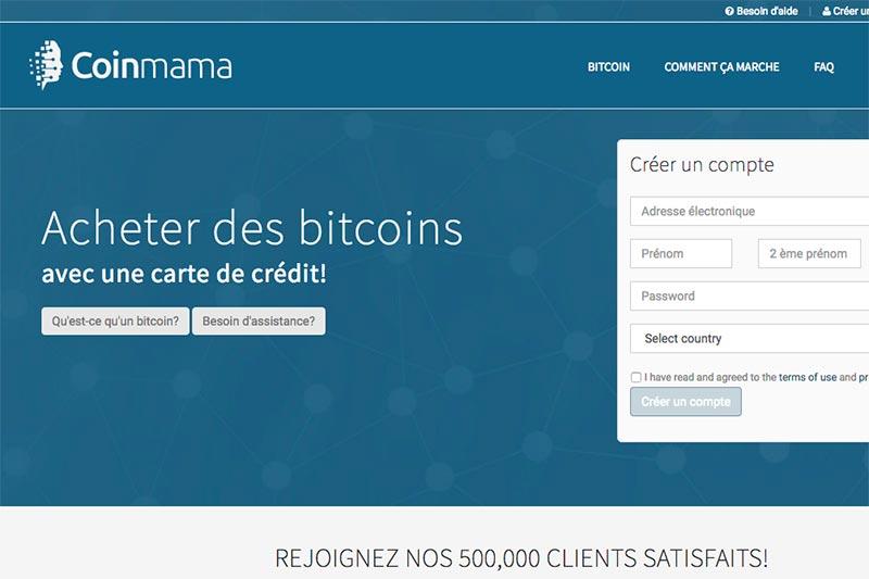 coinmama bitcoin achat